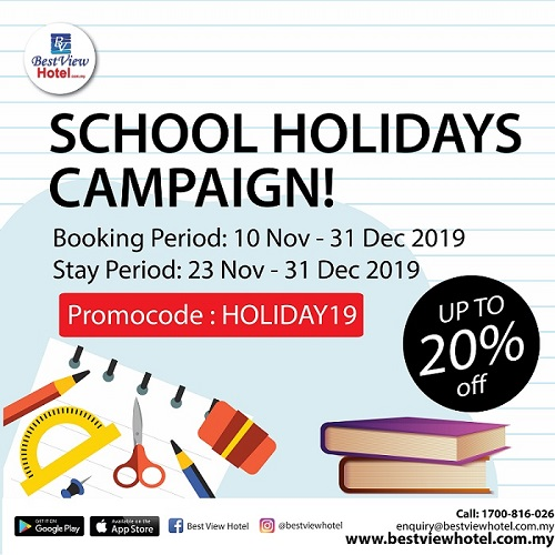 School Holiday Promotions!