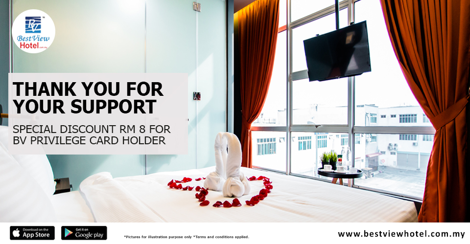Thank you for choosing Best View Hotel as your choice of accommodation!