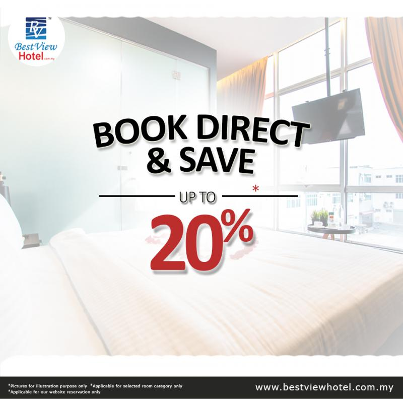 Book Direct With Us and Enjoy Up To 20% Off